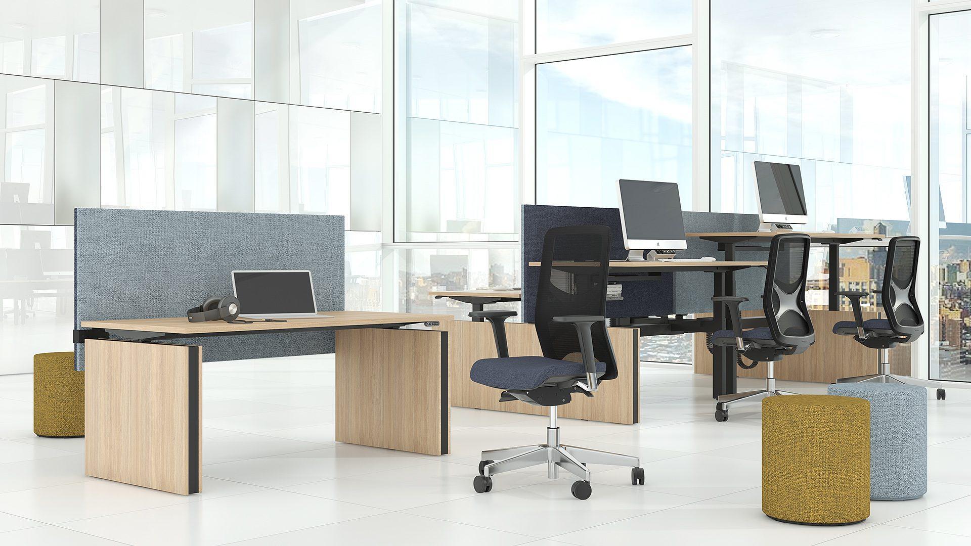 KasbergenA+P kantoormeubelen Narbutas duo werkplek motion